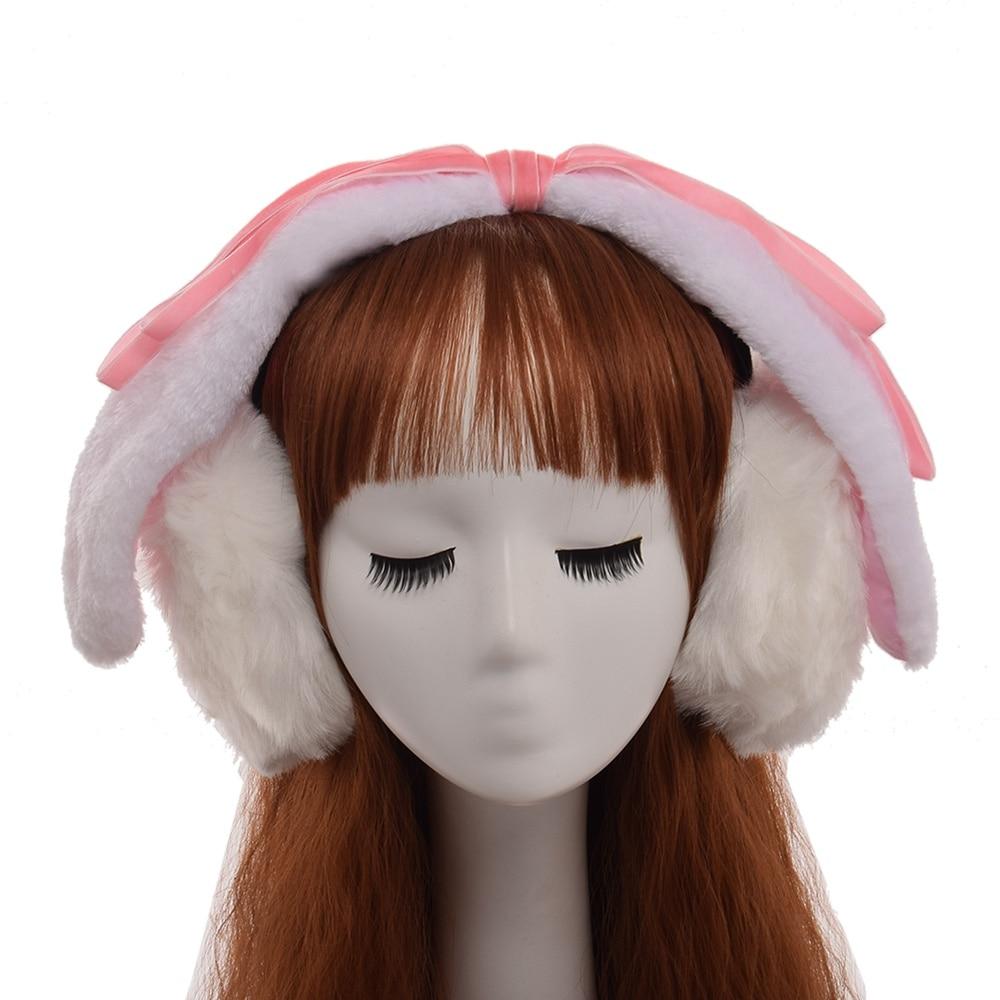 Cute Girls Christmas Gift Rabbit Ears Lolita Earmuff Lop Ear Winter Ear-flap