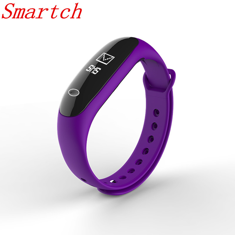 Smartch Smart Band E26 Heart Rate Blood Pressure Monitor Fitness Tracker Pedometer Health Bracelet Bluetooth 4