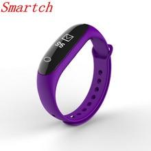 Smartch Smart Band E26 сердечного ритма крови Давление монитор фитнес трекер Шагомер Браслет Здоровья Bluetooth 4.0 Интеллектуальный ALE