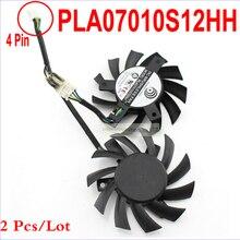 2 шт./партия PowerLogic PLA07010S12HH 65 мм 0.50A длительный срок службы подшипника видеокарты вентилятор для MSI 5770 6770 Твин Frozr II в качестве замены