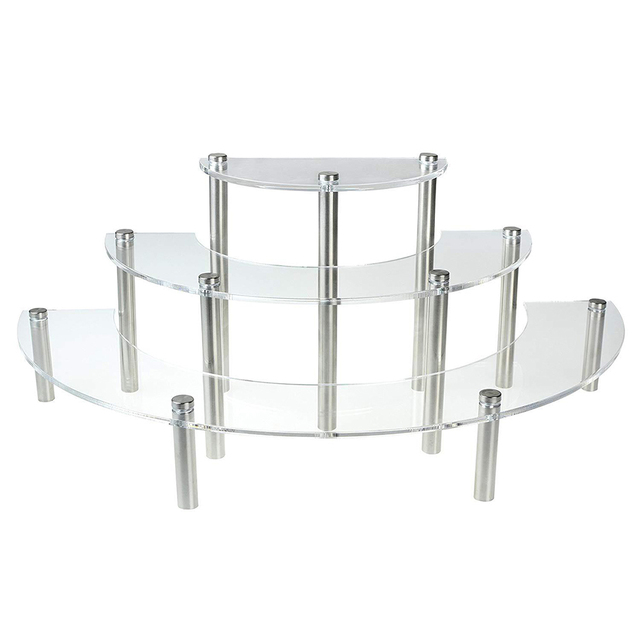 1 PC Durable Cupcake Stand Acrylic 3 Tiers Display Stand Serving Platter Dessert Cupcake Rack For Wedding Birthday Party Holiday