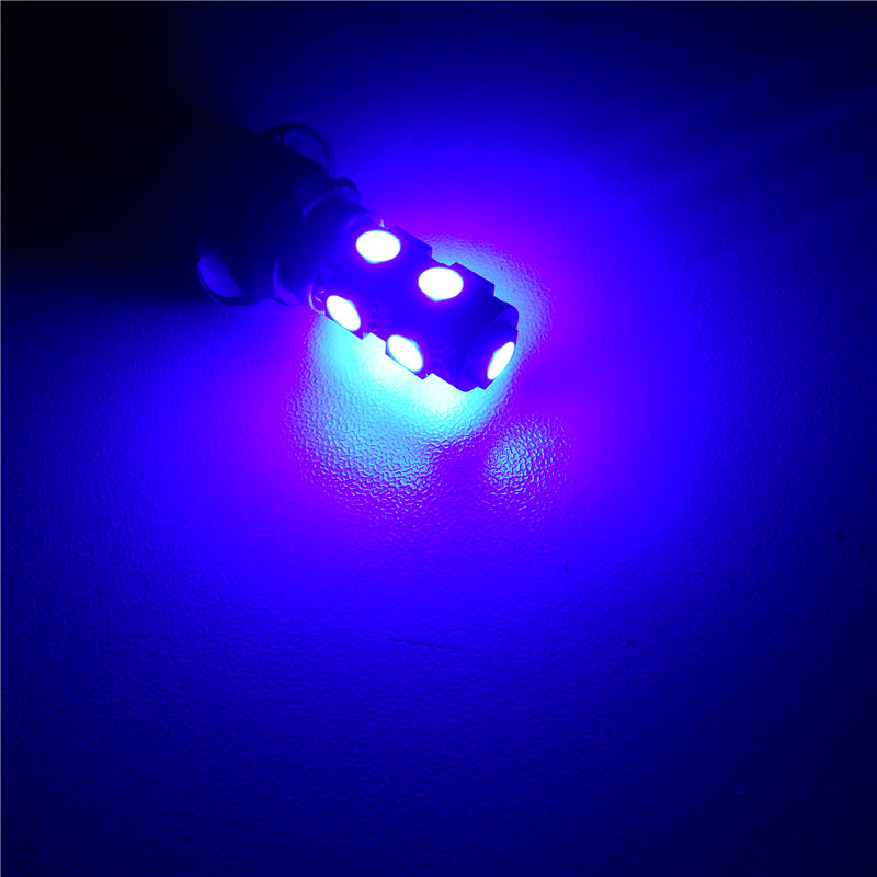 12 V-os LED-es izzólámpa 1Pair T10 (9 * 5050 SMD) W5W W2.1x9.5d - Autó világítás - Fénykép 6
