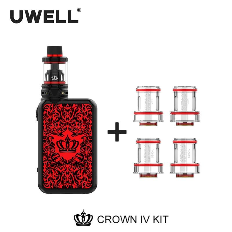UWELL Crown IV (Crown 4) Kit& Coil Set 5ml Crown 4 Tank 5-200W Crown Box Mod Electronic Cigarette Vaporizer