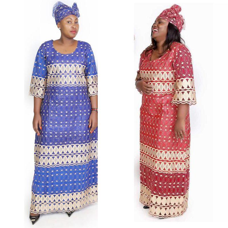 2018 dashiki africano vestidos para las mujeres del Sur de África ropa  africana mujer plus tamaño bazin riche maxi vestido de encaje secreto fe6b929042c