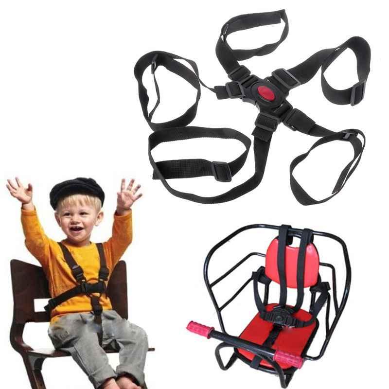 1pc เด็กป้องกันที่นั่งรถเข็นเด็กเข็มขัด 5 จุดเข็มขัดนิรภัยที่นั่งสำหรับรถเข็นเด็กเก้าอี้สูงรถเข็นเด็ก Buggy ความปลอดภัยเข็มขัด