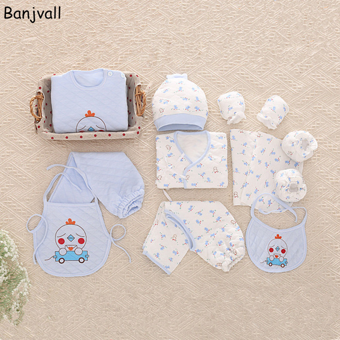 Autumn And Winter Thickened Newborn Baby Clothing Set Gift Set Infant Underwear Suits  Toddler Full Monthes Clothes 19pc of cotton newborn baby clothes gift set baby clothes suit autumn and winter thicken baby underwear supplies jhhs