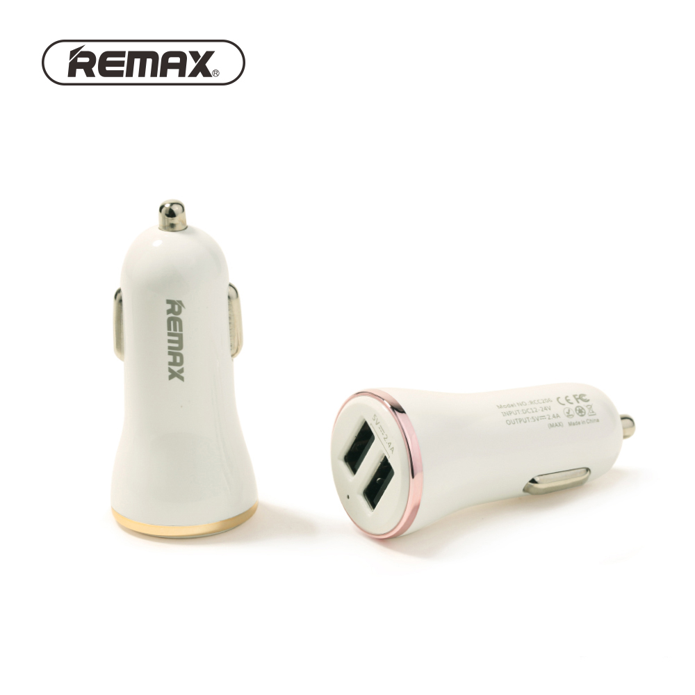 Remax Dolfin RCC206 Double USB Car Charger Samsung S10 S9 S8 Plus Xiaomi Huawei p10 lite Mate 20 Fast Charging 2 1A Charger in Car Chargers from Cellphones Telecommunications