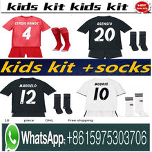 037e861ec4d 2019 Kids Kit Real Madrid Football Jersey 201819 Home White Away Boy Soccer  Jerseys ISCO ASENSIO BALE KROOS Child 3rd red Soccer