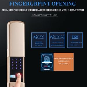 Image 4 - スマート家電ドアロック大型屋内セキュリティドアロック携帯アプリによるリモート制御パスワード指紋緊急キー