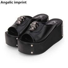 Wedges Pumps Cosplay-Shoes Angelic Imprint Rivets Summer Sandals Lolita High-Heels Princess