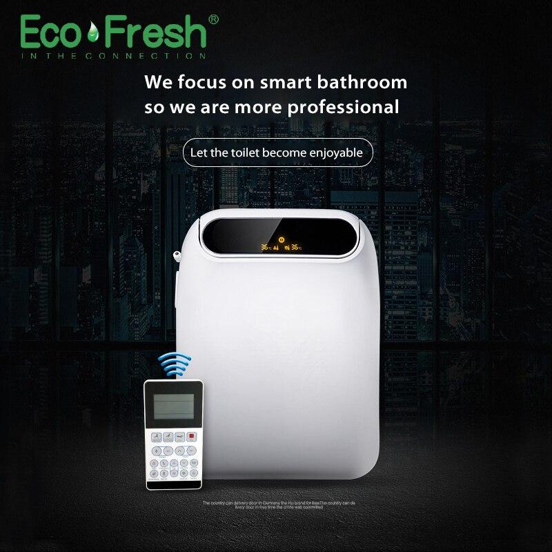 Ecofresh inteligente asiento de inodoro bidet Washlet eléctricos Bidet cubierta de asiento de luz led inteligente baño auto