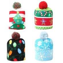 Светодиодный вязанная Рождественская шапочка Теплый защитный колпачок декор для компьютера красивый свежий классический романтичный Рождественский подарок