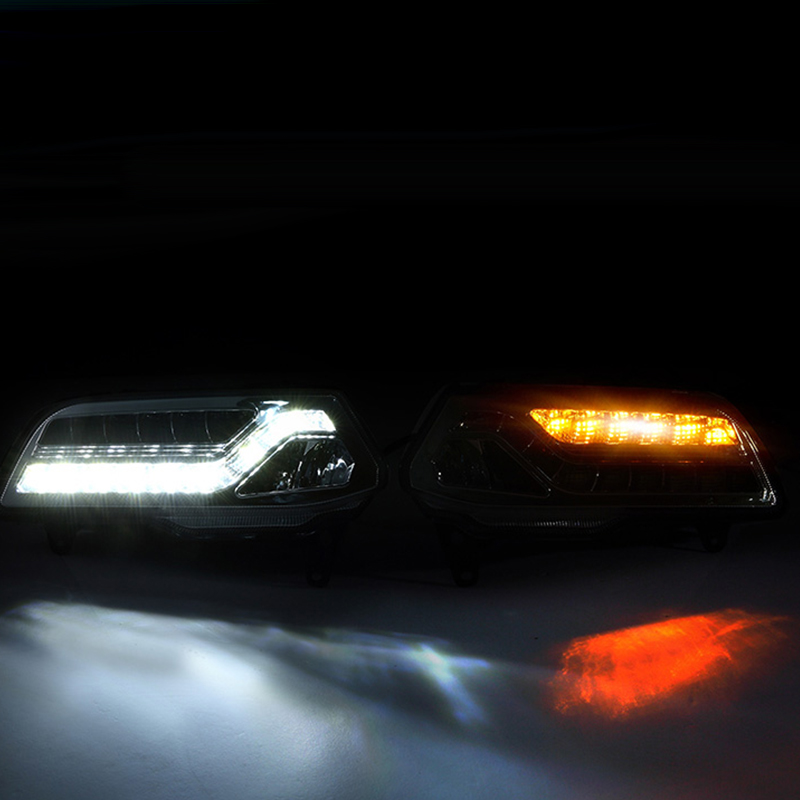 New Car Accessories LED DRL Daytime Running Lights Daylight Fog light LED fog lamp for Volkswagen VW Polo 2014 2015 2016 hot sale abs chromed front behind fog lamp cover 2pcs set car accessories for volkswagen vw tiguan 2010 2011 2012 2013