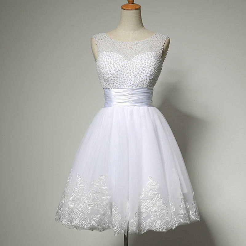 New 2016 white short wedding dresses the brides sexy lace for Sexiest short wedding dresses