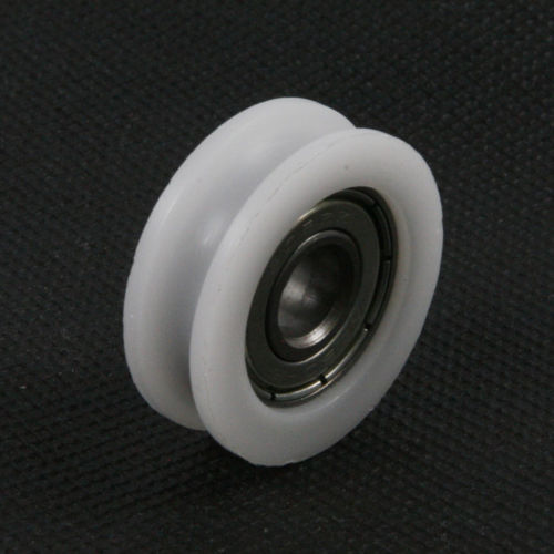 Fixmee 10 pcs U Nylon plastic Embedded 608 Groove Ball Bearings 8*30*10mm Guide Pulley