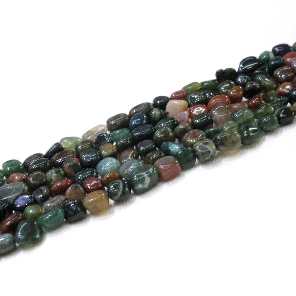 Оптовая природных Индия Агат камень Нерегулярные Гравий Форма 8-10 мм  бусины для ювелирных изделий DIY браслет Цепочки и ожерелья 15   40 шт. ea32027ae7d