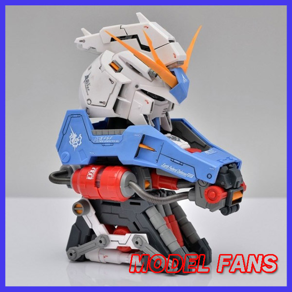 ФОТО MODEL FANS IN-STOCK assembly Gundam model 1:35 RX-93 hi V Gundam Head bust gift Orange Outer Armor toy gift action figure