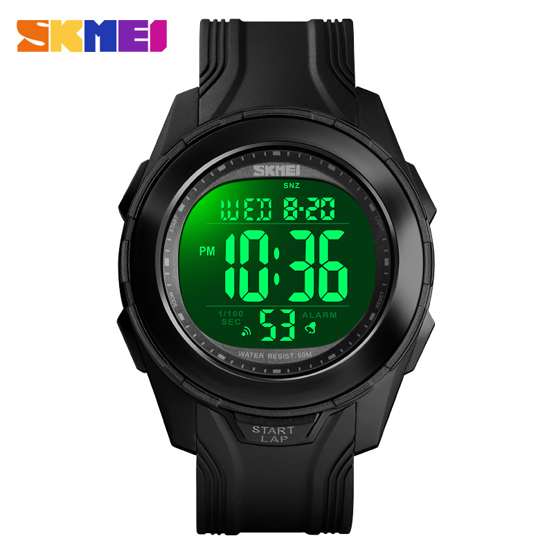<font><b>SKMEI</b></font> <font><b>1503</b></font> Sport Men Digital Wristwatches Back Light 50M Waterproof Watch PU Strap Chronograph Week Clock Relogio Masculino image
