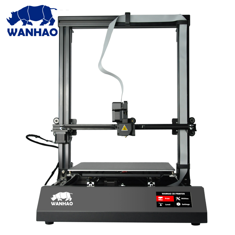 2018 Wanhao NEW FDM 3D Printer Machine Duplicator 9 (D9), With Auto Leveling, With Big Build/Print size, Desktop 3D Printer flsun 3d printer big pulley kossel 3d printer with one roll filament sd card fast shipping