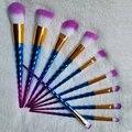 Unicorn Makeup Brushes 10 pcs Thread Rainbow Make Up Brushes set Blending Powder foundation contour Brush Tool