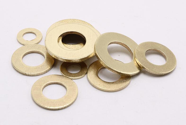 100 pces m2 m2.5 m3 m4 m5 m6 m8 m10 m12 arruela lisa de bronze cobre