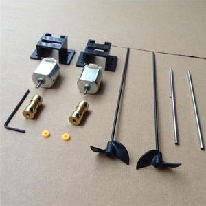 Image 1 - Double Motors RC Boat Drive Set 130 Motor+Motor Seat+Copper Coupling+15CM Shaft+Propellers Kit for DIY Model Ship Kits