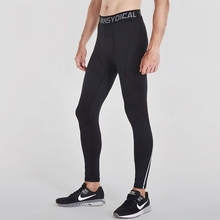 купить Men Compression Pants Running Tights Training Fitness Sports Leggings Gym Jogging Trousers Sportswear for Men дешево