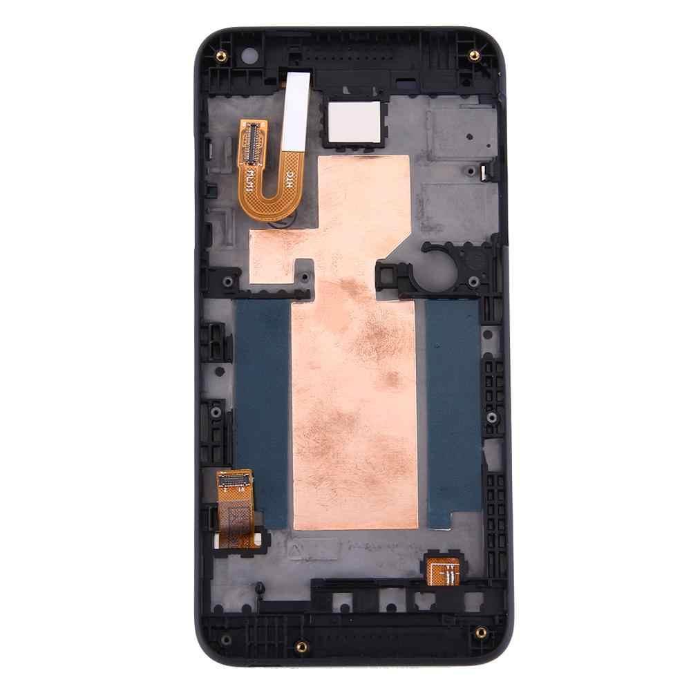 ل HTC الرغبة 610 شاشة الكريستال السائل محول الأرقام شاشة تعمل باللمس الزجاج لوحة شاشة الكريستال السائل الجمعية مع الإطار استبدال جزء