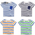 V-TREE Baby Boys T Shirt Tops Cotton Short Sleeve Striped Car Dinosaur T Shirt For Boys Kids Shirt Tops Tees Outwear