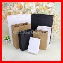 (100 Шт./лот) 10 РАЗМЕР оптовая высокое качество черный белый коричневый бумажный мешок для магазина одежды и обуви коробка