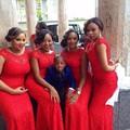 2016 Cheap Sereia Vestidos de Dama de honra Vermelho Africano Vestidos De Convidado Do Casamento da Luva do Tampão Do Vintage Lace Árabe Vestido De Dama De Honra