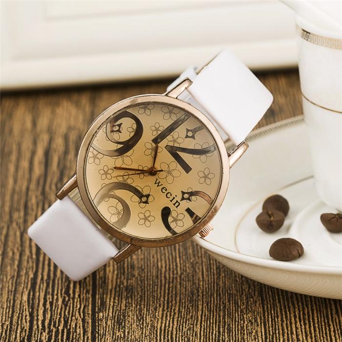 NEW Fashion Brand Big Number Women Man Unisex Watch 2016 Brand New Quartz Clocks PU Leather Women's Sports Watches