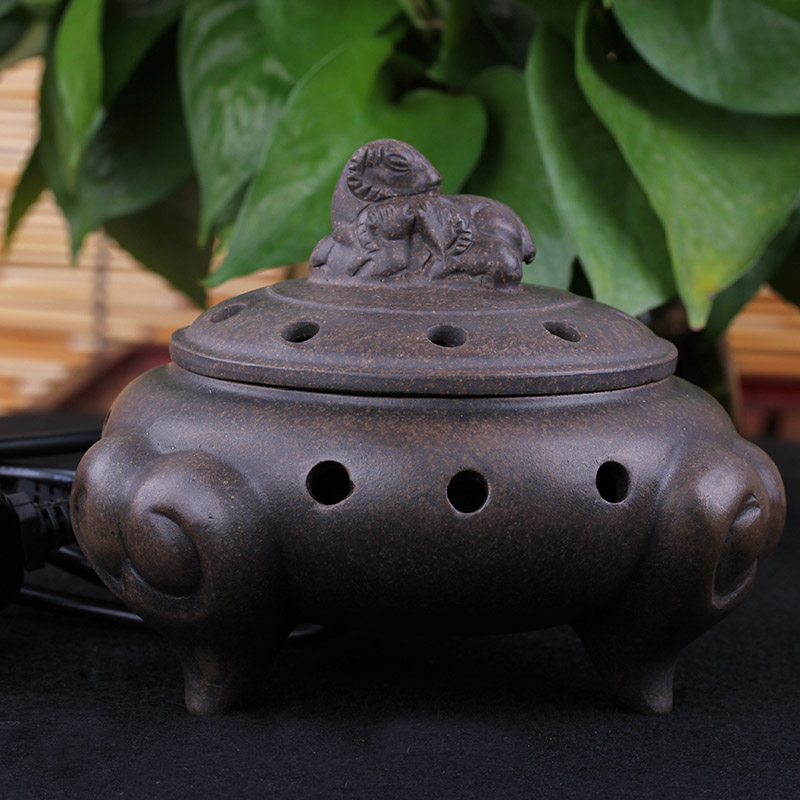 Aromatherapy gift three goat purple electronic furnace thermostat incense fragrance furnace in Incense Incense Burners from Home Garden