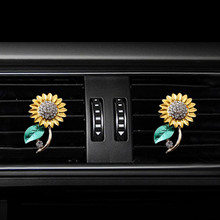 Sunflower styling car Perfume clip air conditioner outlet freshener in the automobile  diffuser