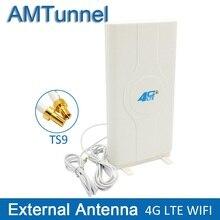 3G 4G LTE 안테나 4G MIMO 안테나 TS9 외부 패널 안테나 화웨이 E8372 E3372 B315 라우터 모뎀 용 CRC9 SMA 커넥터 2m