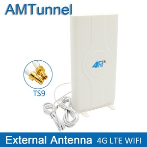 Image 1 - 3G 4G LTE 안테나 4G MIMO 안테나 TS9 외부 패널 안테나 화웨이 E8372 E3372 B315 라우터 모뎀 용 CRC9 SMA 커넥터 2m