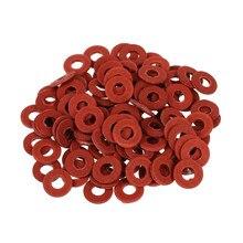 Jfbl venda quente nova venda quente 100 pçs prático vermelho placa-mãe parafuso de isolamento de fibra arruelas