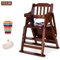 Pinho FEIFEILONG Wodden Dobra Bandeja De Bebê De jantar Cadeira Ajustável Do Bebê Assento Do Bebê Assento Do Bebê Reforço