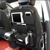 سيارة المقعد الخلفي المنظم حقيبة التخزين المحمولة جيوب التصميم سيارة تستيفها قرص الهاتف حامل المشروبات الغذائية الحاوية