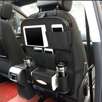 Car Back Seat Organizer Storage Bag Portable Pockets Car Styling Stowing Tidying Tablet Phone Holder Food
