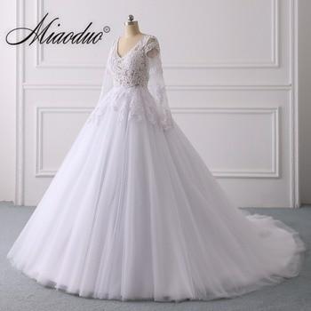 Buy online d Pink Lace Applique Ball Gown Wedding Dresses 2019 vestido de  noiva long robe c6efde72c97d
