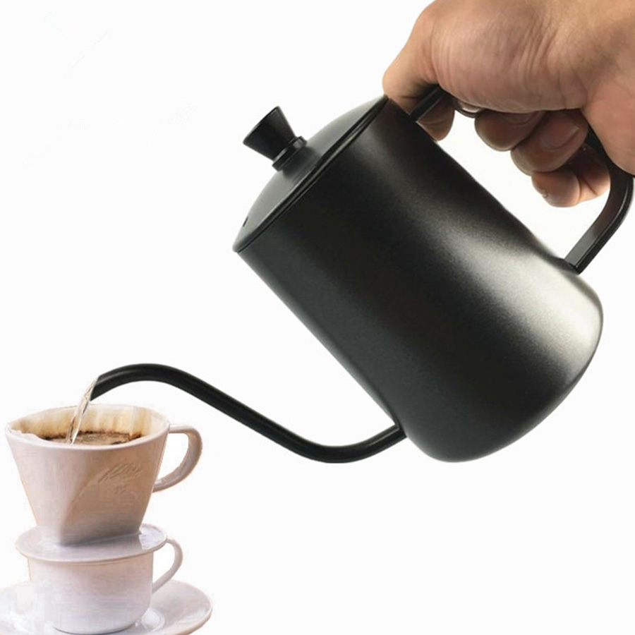 350ml Mini Coffee Maker Stainless Steel Espresso Filter Milk Coffee Machine Long Mouth kettle Teapot Kitchen Tool hand Punch Pot цена