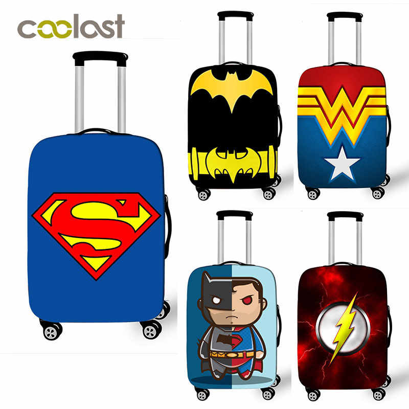 Comics Super Hero багажный Чехол Эластичный костюм чехол Защитный чехол для 18-32 дюймов тележка багаж чехол сумка Аксессуары для путешествий
