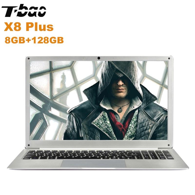 NOUVEAU T-Bao X8 Ainsi qu'un Ordinateur Portable 15.6 ''Windows 10 Intel Celeron N4100 Quad Core 1.1 GHz 8 GB + 128 GB HDMI 0.3MP caméra avant Notebook PC