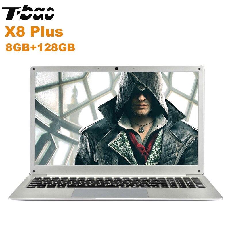 NUOVO T-Bao X8 Più Il Computer Portatile 15.6 ''Finestre 10 Intel Celeron N4100 Quad Core da 1.1 GHz 8 GB + 128 GB HDMI 0.3MP Fotocamera Frontale Notebook PC