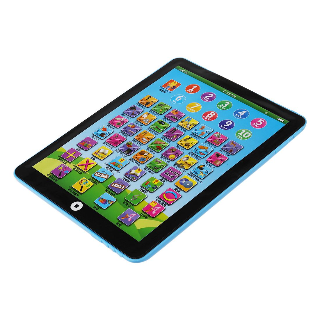 Children's Baby Tablet Pad Computer Educational Toys Toy Letters Gift -SCLL