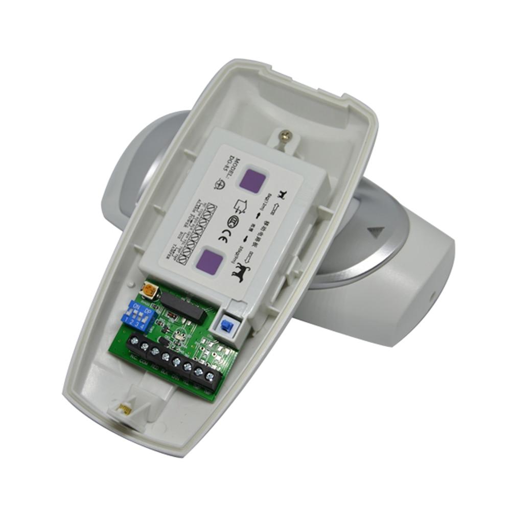 Купить с кэшбэком (1 pcs)12VDC Outdoor IP45 Waterproof wired Infrared Motion Sensor Dual PIR Detector Alarm DG85 Home security Pet immunity