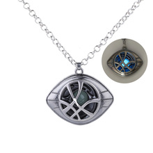 Marvel Avengers Super Hero Doctor Strange Infinity Time Stones Necklace Keychain Figure Model Toys
