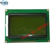12864 модуль ЖК-дисплей STN зеленый зеленая подсветка экрана 5 В стандартных графических ST7920 размер 93*70 мм