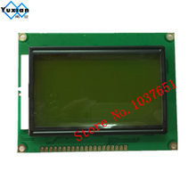12864 lcd display module STN green screen green backlight 5v standard graphic ST7920 size 93*70mm(China)